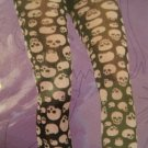 Skull Goth Gothic Black & White Tights One Size For Teens  S2010017 4