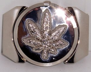 Marijuana Leaf Lighter Belt Buckle