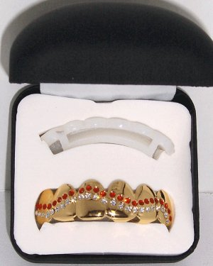 Red & Clear Wave Pattern Grillz