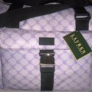 Lauren Ralph Lauren Logo Print Carryon Travel Bag in Purple & White