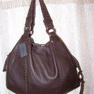 Desmo Borsa Cervo Moka Italian Leather Large Hobo Shoulder Bag