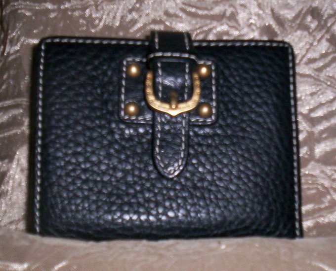 Dooney &  Bourke Marchesa Pebbled Leather Wallet in Black