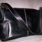 Fossil Reece Medium Leather Hobo Shoulder Bag in Black