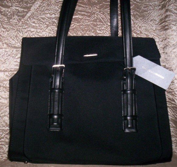 Francesco Biasia Nero Business Tote Organizer Handbag in Black