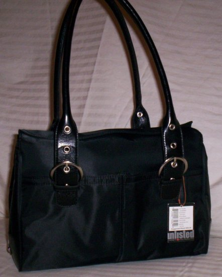 Kenneth Cole Unlisted Edge of Our Seat Nylon Satchel in Black