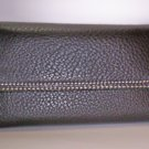 New Liz Claiborne Newberry Flats Leather Flap Wallet in Brown