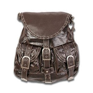 Red by Marc Ecko In and Out of Love Flap Shoulder Bag in Brown