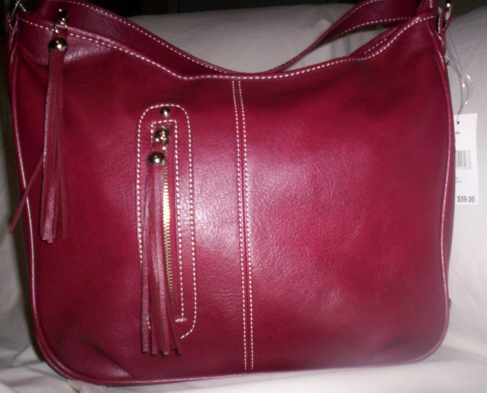 Nine West Tassle-O Hobo Handbag in Merlot