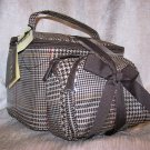 Lauren by Ralph Lauren Gift Set of 3 Cosmetic Case Travel Bags in Tan Houndstooth Plaid