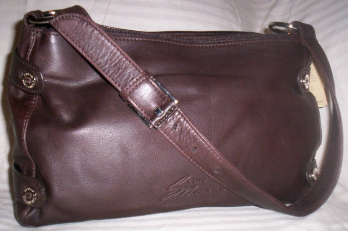 Stone Mountain Clearlake Leather Satchel Shoulder Bag in Brown