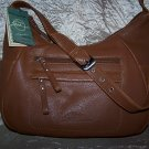 Stone Mountain Lakewood Leather Hobo Shoulder Bag in Medium Brown