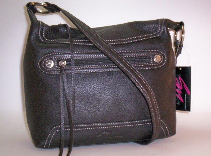 Stone Mountain Oak Ridge Leather Rectangle Hobo Shoulder Bag in Brown