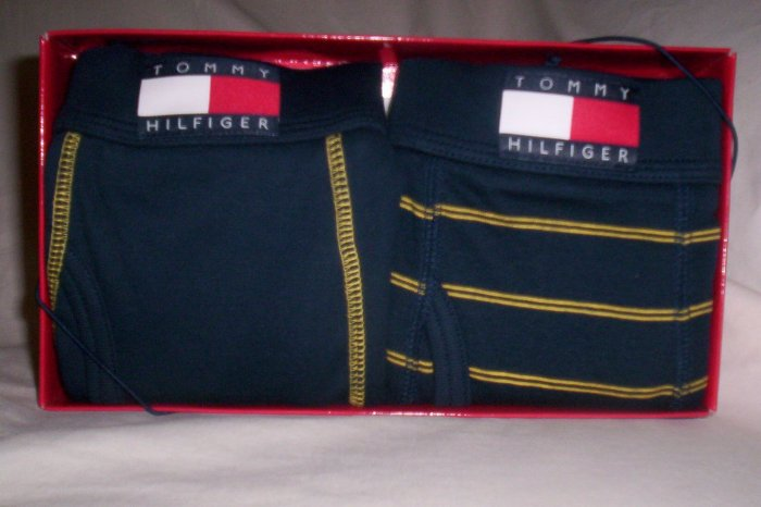 Set of 2 Tommy Hilfiger Small Boxer-Briefs in Navy Blue and Yellow