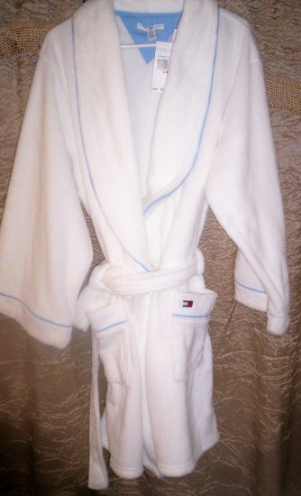 Tommy Hilfiger Soft Cuddly L/XL Robe in White