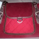 Tommy Hilfiger Montana Corduroy Satchel Style Tote in Red