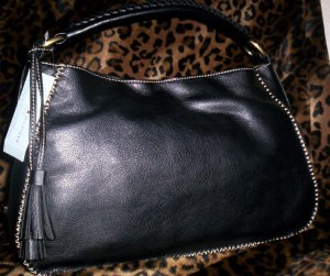 Tommy Hilfiger Mystic Small Hobo Handbag in Black
