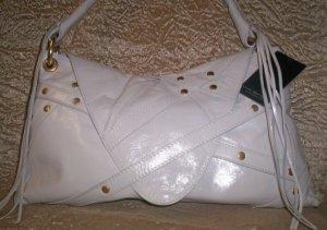 Via Spiga Nikki Leather Studded Envelope Style Handbag in White