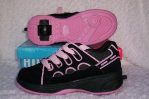 Air Skate Brand Heelies / Wheelies in Black/Pink Size 7