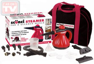 Scunci Hand Held Steamer with Accessories and Carrying Tote