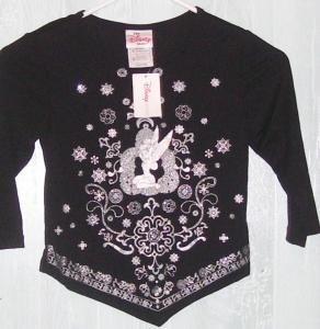 Girls Disney Tinkerbell Shirt Sz Medium NWT
