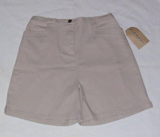 J. Khaki Kids Girls Khaki Shorts Size 6 NWT