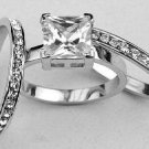 Designer Inspired 3 Ring Russian CZ Wedding Set