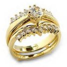 Three Ring Gold Plated Wedding Set Lifetime Guarantee