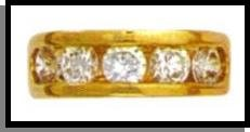 Channel Set Russian Cubic Zirconia Ring