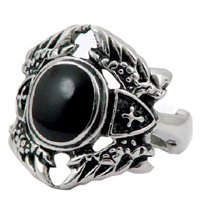 Wing Design Massive Stainless Steel Ring