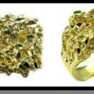 Diamond Cut Nugget Ring