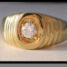 Elegant Men's CZ Ring
