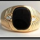 5 Carat Jet Black Men's Ring Guaranteed