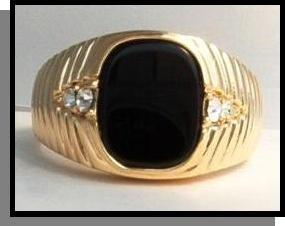 5 Carat Jet Black Men's Ring Guaranteed