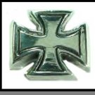 Rhodium Plated Iron Cross Ring