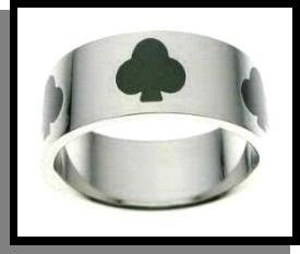 Ace Of Clubs Stainless Steel Ring