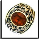 Russian CZ Ruby Red Army Ring
