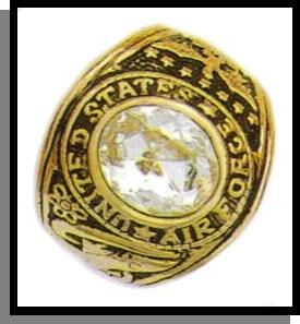 Imitation Diamond CZ Air Force Ring Guaranteed