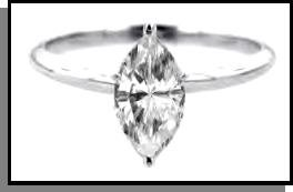 Marquise Cut Clear Russian CZ Ring Guaranteed