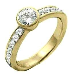 Fantasy North Star Gold CZ Ring
