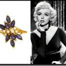 Marilyn Sapphire CZ Cocktail Replica Ring Guaranteed