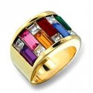 Swarovski Crystal Wide Band Dazzle Ring