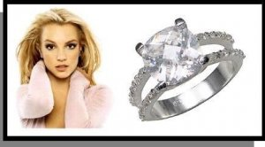 Brittany Replica Russian CZ Sterling Silver Wedding Ring