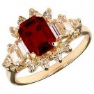 Swarovski Crystal Ornate Ruby Red Ring
