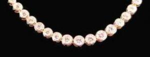 Russian CZ Imitation Diamond Necklace Guaranteed