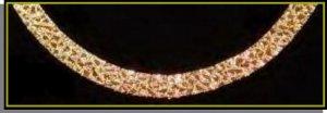 24 Karat Nugget Chain 5/16 Inch Bracelet 7, 8, Or 9 Inch