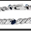 Sterling Silver San Marco Genuine Sapphire & Diamond Accent Bracelet
