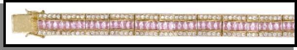 Pretty In Pink Stunning Russian Cubic Zirconia Bracelet