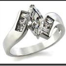 Accented Solitaire Russian CZ Engagement Ring