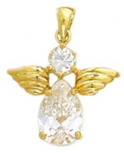 Sparkling Angel Cubic Zirconia  Pendant