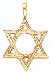 Gold Layered Open Star Of David Pendant